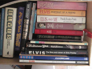 Large collection of Elvis books