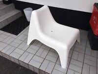 White ikea outdoor seat