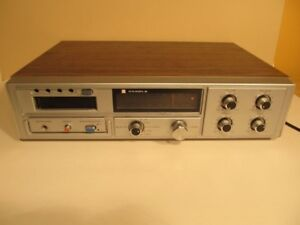 Vintage CANDLE stereo 8 track with AM/Fm radio et 50 cassette 8
