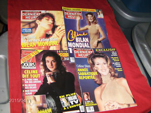 COLLECTION OF 4 CELINE DION MAGAZINES-1996/97-DERNIERE HEURE +