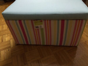 Moving sale: ottoman storage bench/ chair for kids