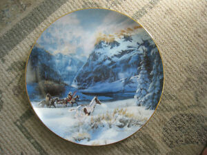Collector Plate – Running With the Wind by Julie Cramer Cole