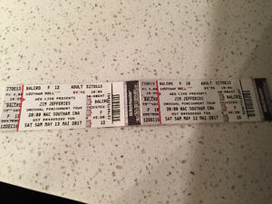 Jim Jefferies pair of tix for sale