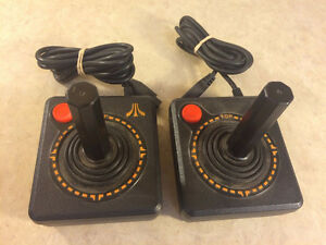 PAIR ORIGINAL ATARI 2600 JOYSTICKS