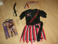 Pirate girl costume size 10-12