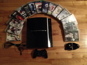 PS3 Fat 80gb + 15 games incredible condition