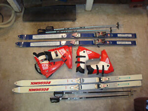 SKIS, BOOTS, POLES