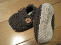 cute knitted slippers