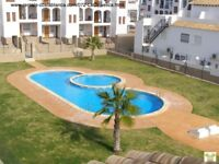 Costa Blanca, 2 bed, South facing, 1st floor apt, May £210 pw (SM072)