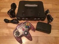 Nintendo 64 console complete N64