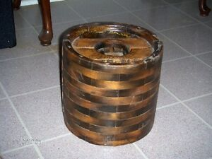 ANTIQUE WOODEN BELT DRIVE PULLY