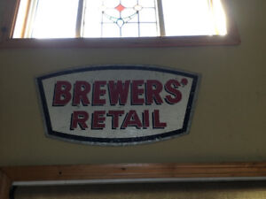 Brewers RetAil tin sign
