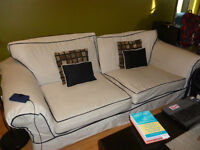 Moving Sale! Couch, table, lamps, fridge, stove..