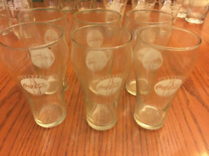 French Coca Cola Glasses Always Coca Cola From Quebec-SET of 6
