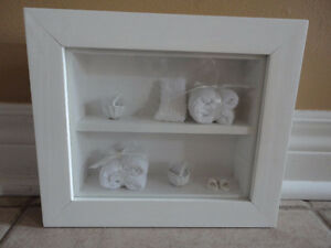Brand new white wooden decorative bathroom theme shadow box London Ontario image 1