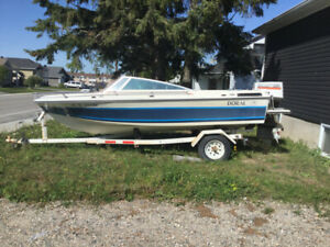 Doral 17 foot fibre glass boat with a 115 Johnson