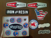 IRON & RESIN patchs stickers pins IRON AND RESIN collants