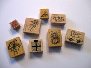 8 Card Making Rubber Stamps