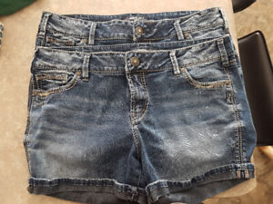 2 pairs of Silver Shorts Size 31