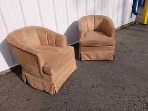 Hony tan colour suede chairs.
