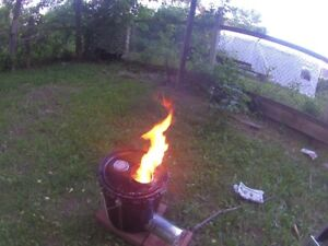 home made rocket stove/fire pit