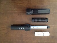 BaByliss pro tongs with brush attachment.
