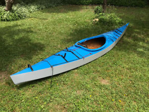 Kayak, custom build, 13 ft., wooden kayak.