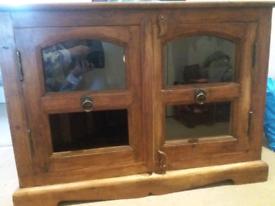 Wooden corner TV unit