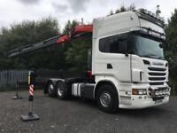 2012 Scania R560 V8 6x2 Topline griffin with FASSI F455XP remote crane