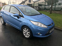 FORD FIESTA 1.2 ZETEC 5 DOOR CLIMATE 43000 MILES FSH KINGFISHER BLUE VERY CLEAN