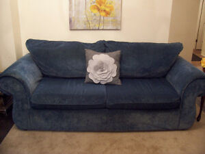 Elegant Blue 3 Seater Sofa in GREAT CONDITION I DELIVER