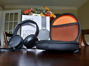 Sony MDR EXTRA BASS On-Ear Headphones + Impact Case