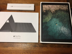 "iPad Pro (2017) 12.9"" WiFi with 256 GB storage and accessories"