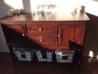 Beautiful hutch-solid wood, excellent condition