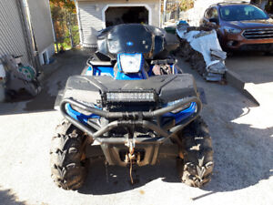 2012 polaris sportsman 400ho atv with plow