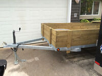 5x10 utility trailer removable sides!