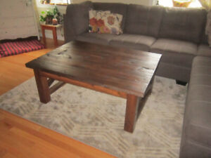 Pine farmhouse style coffee tables