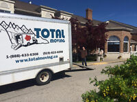 Professional, Insured, WSIB+ and affordable moves @ Total Moving