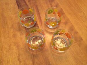 4 Vintage Juice Glasses