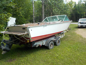 1972 18.5' Greavette with 6 chevy Mercruiser and trailer Kawartha Lakes Peterborough Area image 6