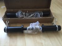 Dumbbell bars with coil springs Olympic brand new