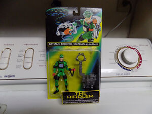 The Riddler with brain drain helmet Batman Forever figure new Kitchener / Waterloo Kitchener Area image 1