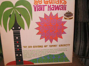 33 TOURS - 50 GUITARS - VISIT HAWAII - TOMMY GARRETT et  AUTRES