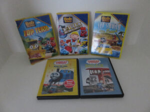 Bob The Builder and Thomas & Friends DVD's  (Lot of 5)