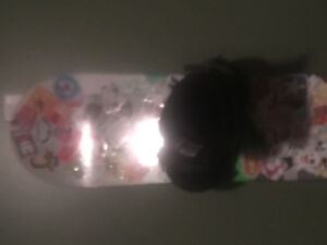 150 snowboard stickers good condition with 9.5 boots