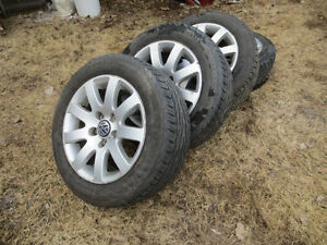 """VW Factory 15"""" rims and new summer General tires"""