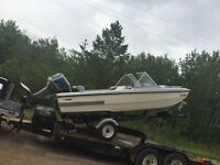Boat motor, trailer and free boat  For trade