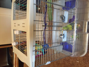 Gently used bird cage