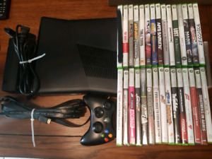 Xbox 360 Slim 4gb model with 31 games