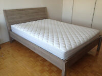 Queen Size Bed Frame and Mattress